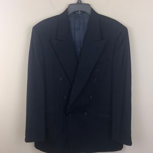 Burberry 100% Wool Double Breasted Suit Jacket